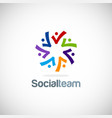 colorful diversity logo vector image