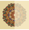 ornate card with circle ornamental floral pattern vector image vector image