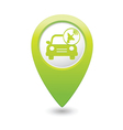cars satelite GREEN map pointer vector image