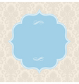 vector pastel ornate blue frame vector image