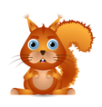 cute squirrel character vector image vector image