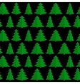 Christmas Flat Tree Seamless Pattern Background vector image