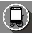 Pop corn food stand vector image