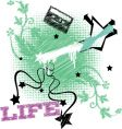 life embroidery vector image vector image