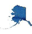 Alaska map with flag inside vector image