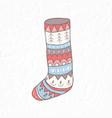 christmas sock minimalist scandinavian style vector image