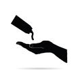 daily hand cream icon in black vector image
