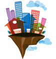 Flying Island real estate vector image