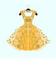 gorgeous golden dress vector image