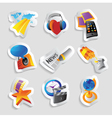 Icons for media vector image