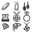 jewelry mark set vector image