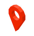 point location 3d business icon vector image