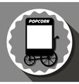 Pop corn food stand vector image