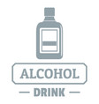 quality alcohol logo simple gray style vector image