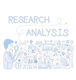 Research Analysis Infographics vector image