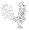 Rooster zentangle domestic farmer Bird for vector image
