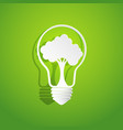 tree in light bulb shape vector image