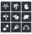 Set of Papuan Icons Savage Tropical vector image
