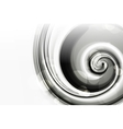White Spiral vector image
