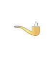 smoky pipe computer symbol vector image