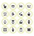 Set round icons of toilet vector image