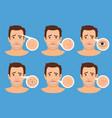 man skin problems vector image