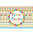 festa junina patterned set of brushes bunting vector image