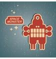 Vintage monster vector image vector image