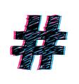 3D Hashtag