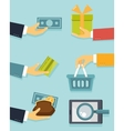 Payments and sales vector image vector image