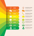 infographic banner with data vector image