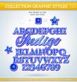 Indigo Graphic Style for Design vector image