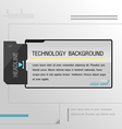 Technology Background Black Template Modern vector image vector image