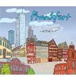 frankfurt doodles vector image vector image