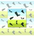 Black shoes vector image