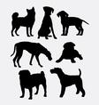 Dog pet animal symbol silhouette vector image