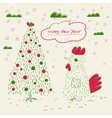 Doodle greeting card vector image