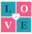 happy valentines day cards retro style vector image