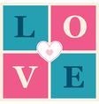 happy valentines day cards retro style vector image