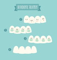 orthodontic treatment tooth braces vector image