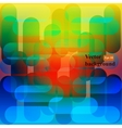 Retro background Colorful mosaic banner vector image