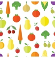 Seamless background with fruits and vegetables vector image
