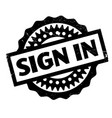sign in rubber stamp vector image