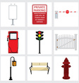 Street icons vector image