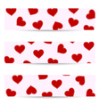 Valentine seamless banners vector image