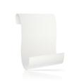 white parchment vector image