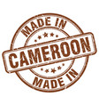 made in cameroon brown grunge round stamp vector image