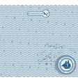 Sea wave hand-drawn pattern vector image