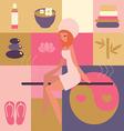spa and beauty salon -sauna vector image