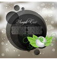 background with vector earth globes vector image